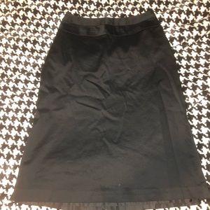 Merona black suit skirt